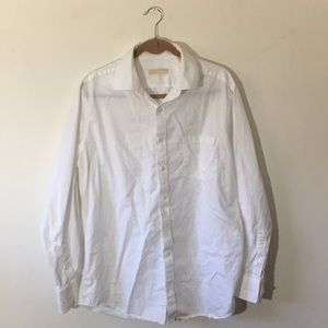 Men's Michael Kors pocket button down, white